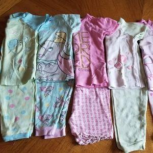 (7) short sleeve + shorts pajamas 18m *bundle*
